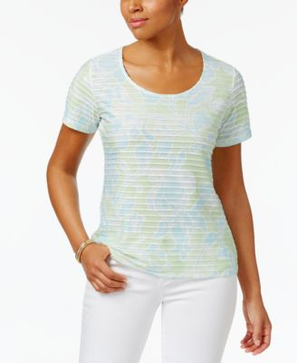 Image of Karen Scott Print Ruffled Top, Only at Macy's