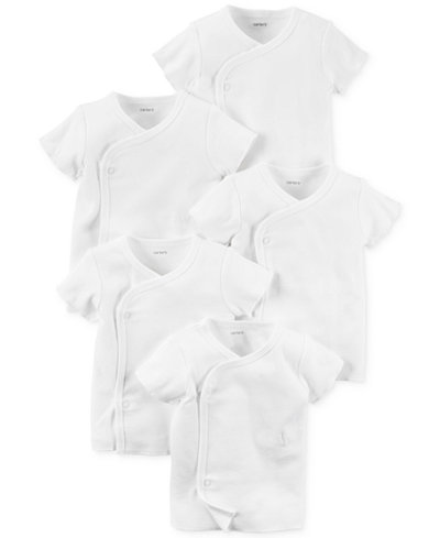 Carter's Baby Boys' or Baby Girls' 5-Pack Kimono Shirts