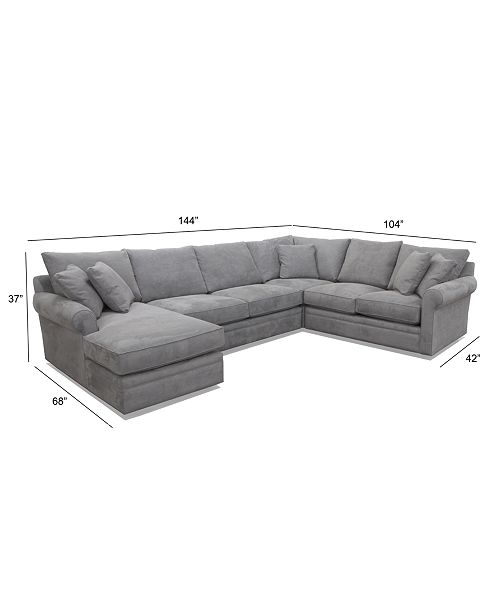 Awesome Doss Ii 4 Pc Fabric Chaise Sectional Sofa Cjindustries Chair Design For Home Cjindustriesco