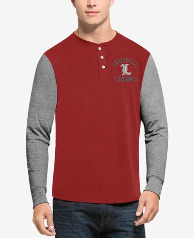 '47 Brand Men's Louisville Cardinals Downfield Henley T-Shirt