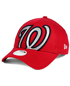 New Era Women's Washington Nationals Glitter Glam 9FORTY Strapback Cap