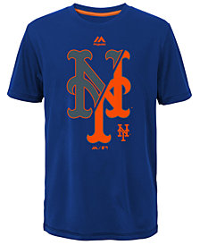 Majestic  New York Mets Split Series Ultra T-Shirt, Big Boys (8-20)