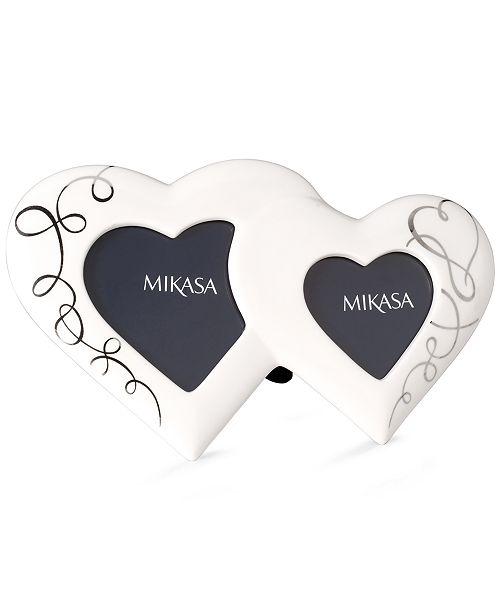 Mikasa Picture Frame Love Story Double Heart Picture Frames Macys