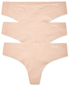 Women's Invisibles 3-Pack Thong Underwear QD3558