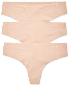 Calvin Klein Invisibles Thong 3-Pack QD3558