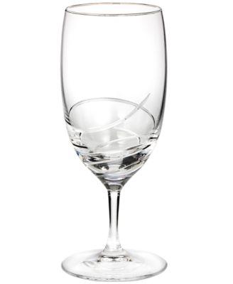 Stemware, Ballet Ribbon Essence Platinum Iced Beverage Glass