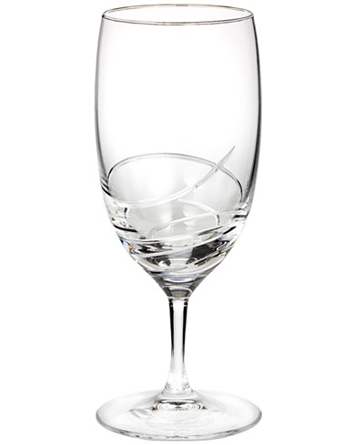 Waterford Stemware, Ballet Ribbon Essence Platinum Iced Beverage Glass