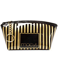 Macy's Striped Makeup Bag, Created for Macy's