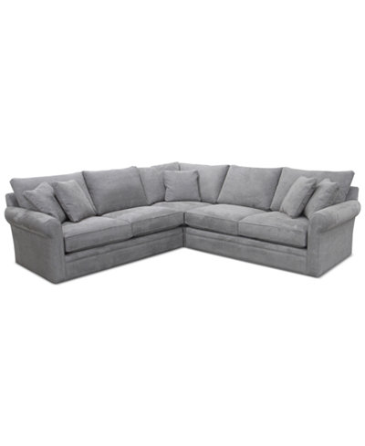 Doss Ii 3 Pc Fabric Sectional With Apartment Sofa
