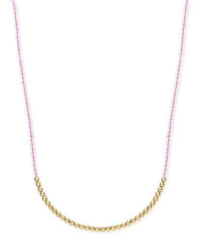 ABS by Allen Schwartz Gold-Tone Beaded Long Necklace