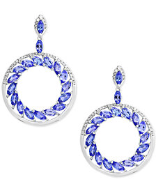 Tanzanite Royalé by EFFY® Tanzanite (4-1/3 ct. t.w.) and Diamond (1/3 ct. t.w.) Drop Earrings in 14k White Gold