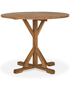 Ireen Outdoor Round Side Table, Quick Ship