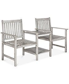 Lydden Outdoor Twin Bench, Quick Ship