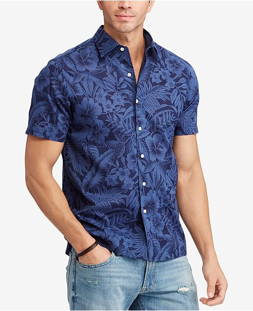 da703b008f2716 ... Polo Ralph Lauren Men's Big & Tall Classic-Fit Floral Print Shirt ...