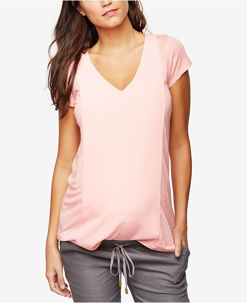 341e5610e958e A Pea in the Pod Maternity Linen V-Neck Top - Maternity - Women - Macy's