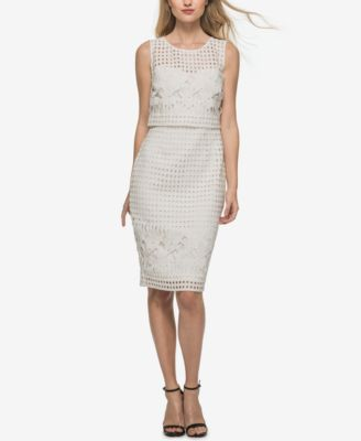 Guess long white lace dress