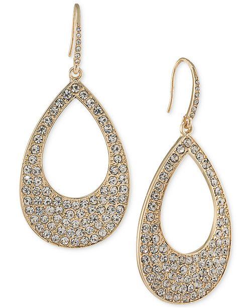 ABS by Allen Schwartz Pavé Open Drop Earrings
