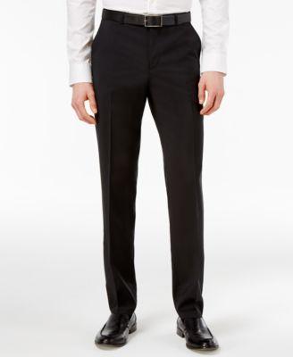 Men's Black Slim-Fit Pants