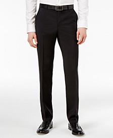 Men's Black Slim-Fit Pants
