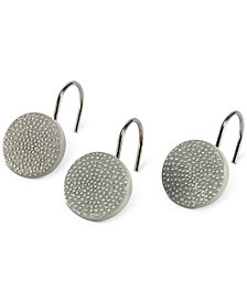 Avanti Dotted Circle Shower Curtain Hooks