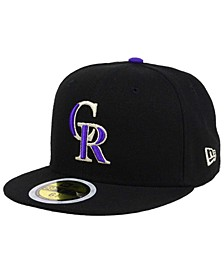Kids' Colorado Rockies Authentic Collection 59FIFTY Cap