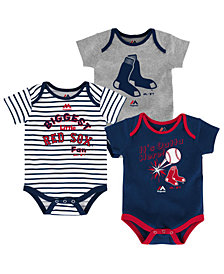 Majestic Boston Red Sox Homerun 3-Piece Set, Baby Boys (0-9 months)
