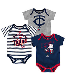 Majestic Minnesota Twins Homerun 3-Piece Set, Baby Boys (0-9 months)