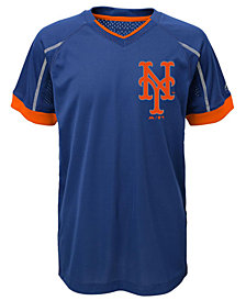Majestic New York Mets Emergence Crew T-Shirt, Big Boys (8-20)