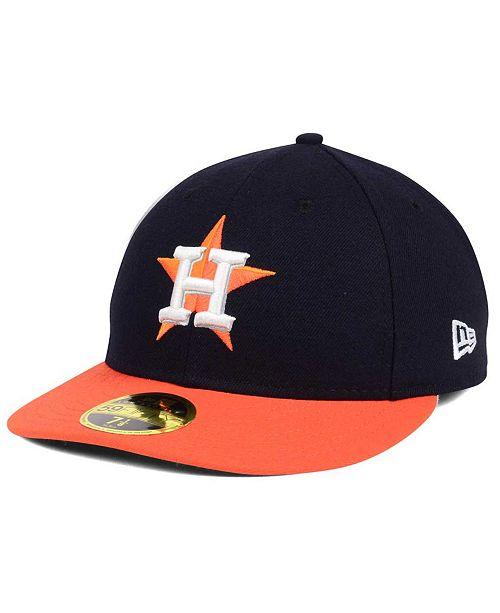 hot sale online de9dc d9bab ... New Era Houston Astros Low Profile AC Performance 59FIFTY Cap ...