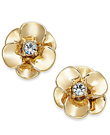 kate spade new york Crystal Flower Stud Earrings