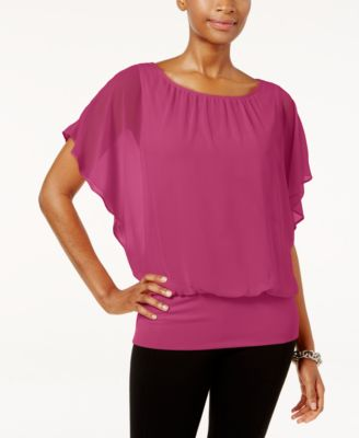 Image of JM Collection Flutter-Sleeve Top, Only at Macy's