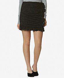 Avec Les Filles Lace-Overlay Mini Skirt