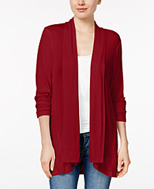 Style & Co Draped High-Low Cardigan, Created for Macy's