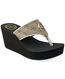 GUESS Women's Solene Thong Sandals