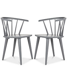 Eryn Set of 2 Dining Chairs, Quick Ship
