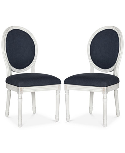 Claudius Set of 2 Linen Dining Chairs, Quick Ship