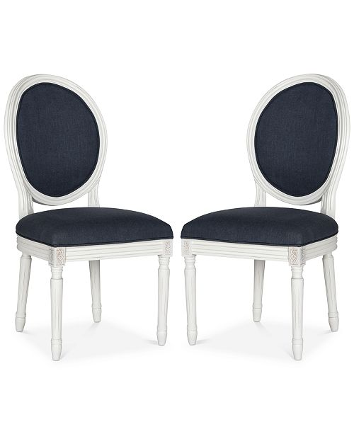 Safavieh Claudius Set of 2 Linen Dining Chairs