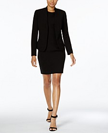 Executive Collection Shawl-Collar Sleeveless Sheath Dress Suit, Created for Macy's