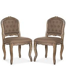 Sanda Set of 2 Dining Chairs, Quick Ship