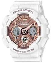 G-Shock Women s S Series Analog-Digital White and Rose Gold-Tone Watch 3e4fdb2308