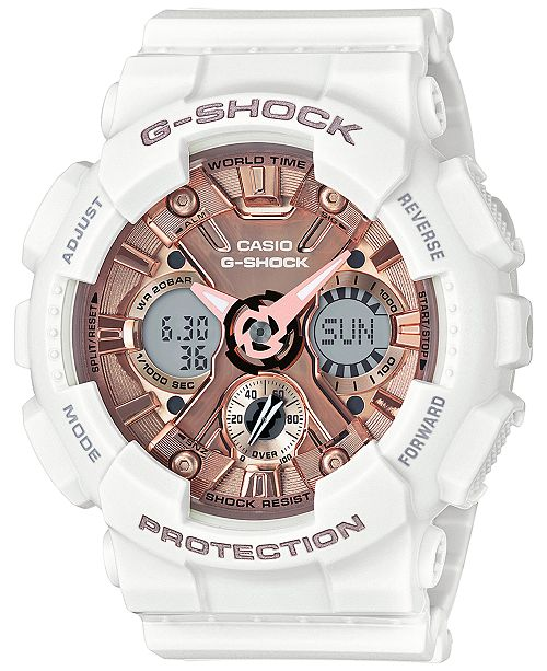 ... G-Shock Women s S Series Analog-Digital White and Rose Gold-Tone Watch  ... 8bf0efb17446
