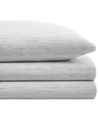 CLOSEOUT! Cotton Percale 200 Thread Count Notch Stripe Pair of King Pillowcases