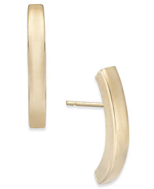 Stick Linear Crawler Earrings in 10k Gold