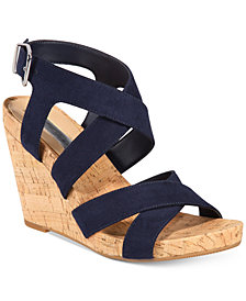 I.N.C. Women's Landor Strappy Wedge Sandals, Created for Macy's