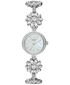kate spade new york Women's Daisy Chain Crystal Stainless Steel Bracelet Watch 20mm KSW1315