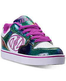 Heels Big Girls' Motion Casual Skate Sneakers from Finish Line