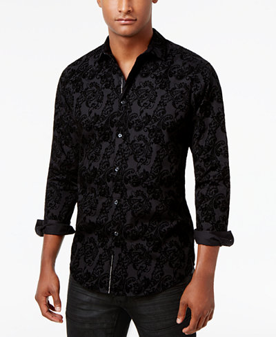 I.N.C. Paisley Shirt, Created for Macy's - Casual Button-Down ...