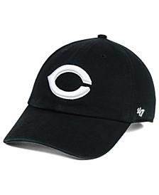Cincinnati Reds Black White Clean Up Cap