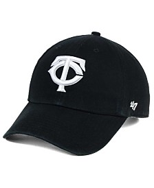 '47 Brand Minnesota Twins Black White Clean Up Cap