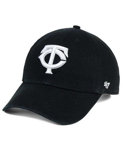 '47 Brand Minnesota Twins Black White Clean Up Cap